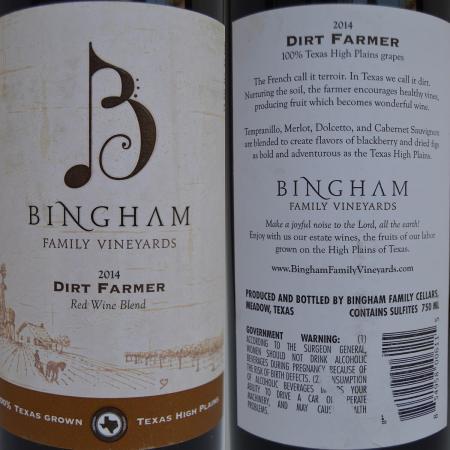 Bingham Dirt Farmer labels