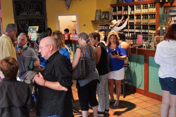 Rustic Grape Grand Renaming - crowd with Randy Majek