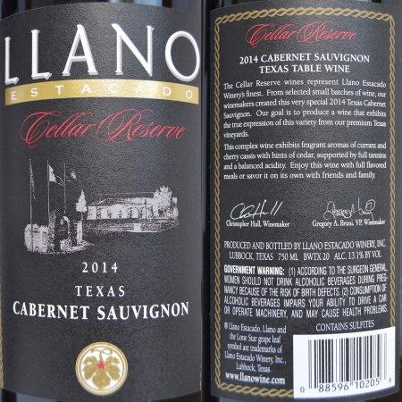 Llano Estacado Winery Cabernet labels