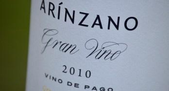 Arínzano Chardonnay label