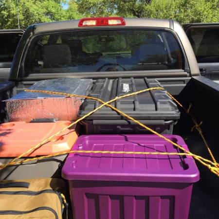 Shelly Ware's Tundra Pickup Loaded & Ready for the Trip