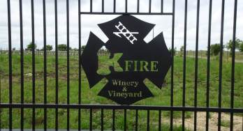 Kfire Winery and Vineyard gate