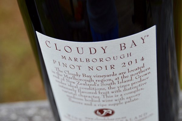 Cloud Bay Pinot Noir bottle label