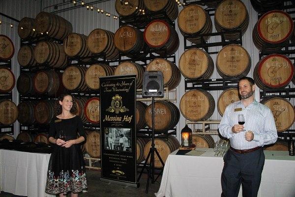 Messina Hof tour Paul and Karen