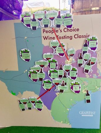 GrapeFest People's Choice map