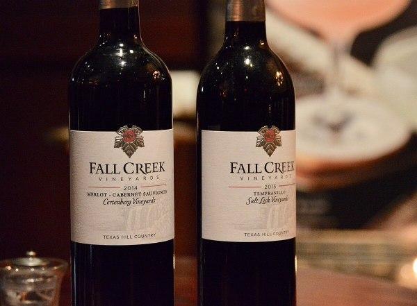 Fall Creek Vineyards bottles