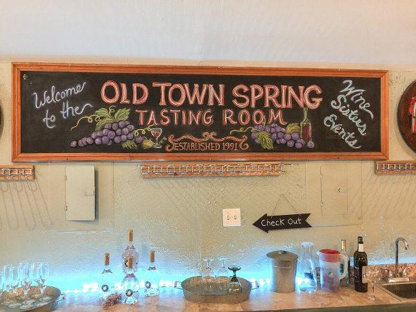 Old Town Spring Tasting Room sign