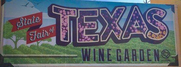 State Fair of Texas wine garden sign