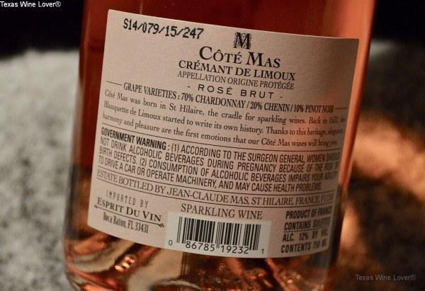 Côté Mas Crémant de Limoux Rosé Brut label