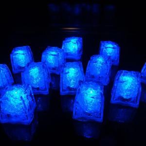 12 Blue Light Up Ice Cubes