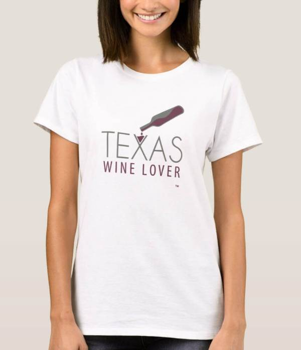 Texas Wine Lover Womens t-shirt with model