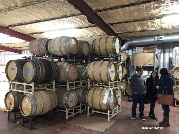 Thirsty Mule Winery barrels