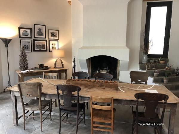 Signor Vineyards tasting room table