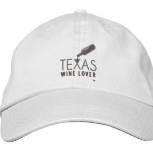 Texas Wine Lover adjustable hat front