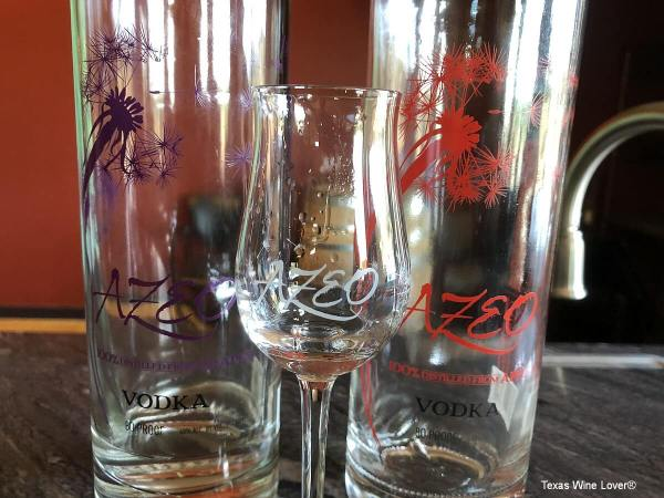 Azeo Distillery bottles and glasses