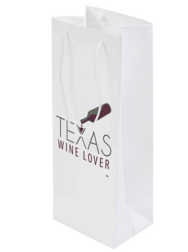 Texas Wine Lover Gift bag back angled
