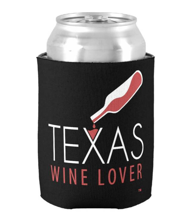 Texas Wine Lover can cooler can front