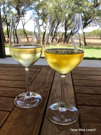 Ab Astris wines on the patio