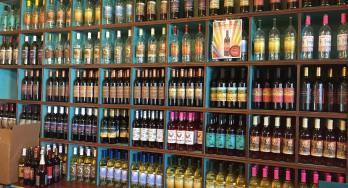 Fiesta Winery wine shelves