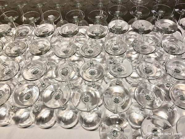 Glasses at Vias Imports tasting
