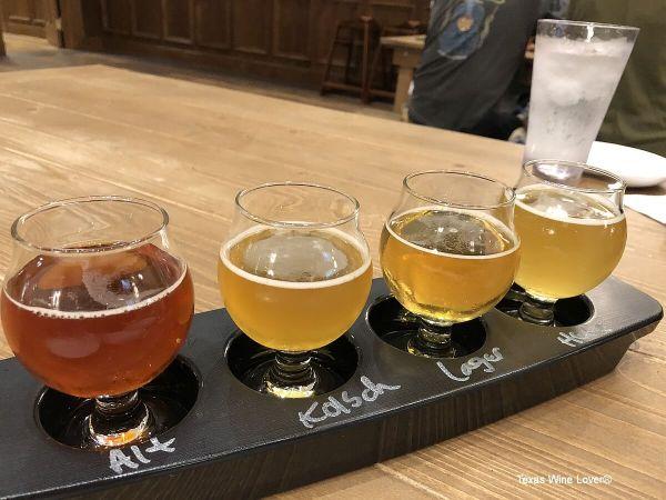 Alstadt Brewery tasting flight