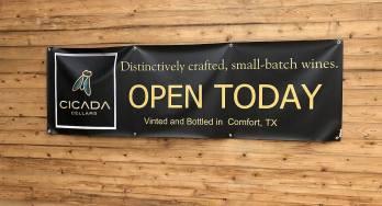 Cicada Cellars sign