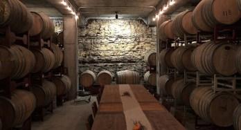 Hawk's Shadow Winery barrel room