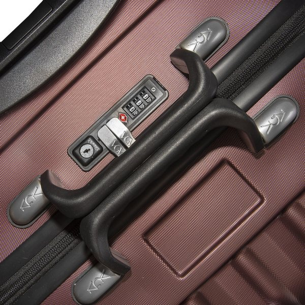 VinGardeValise Burgundy 05 and 03 TSA Lock