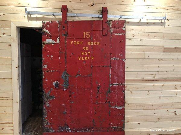 Red House Winery fire door