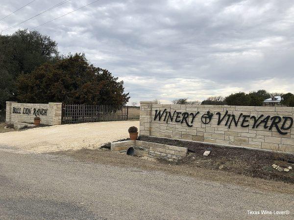 Bull Lion Ranch and Vineyard entrance