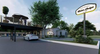 Stonewall Motor Lodge entrance rendering