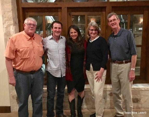 Carl Hudson, Dave & Linda Reilly, Laurie & Shelly Ware enjoying the Duchman Aglianico Retrospective