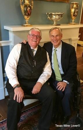 Carl Hudson and Governor Greg Abbott