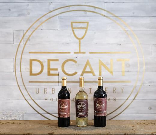 Decant Urban Winery wines