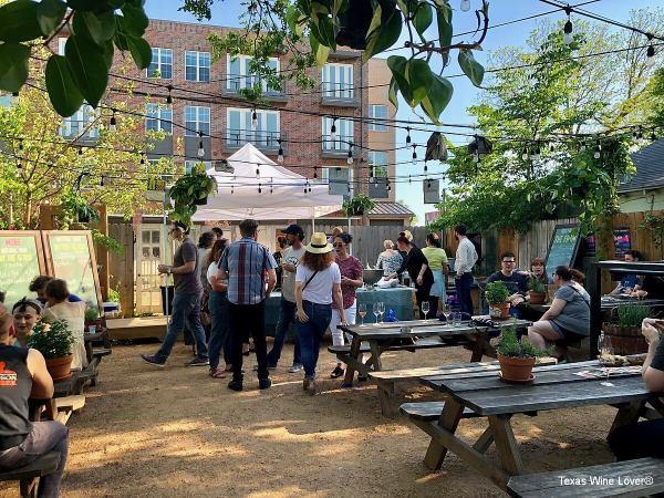 Outdoor wine garden