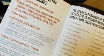 Texas wines booklet