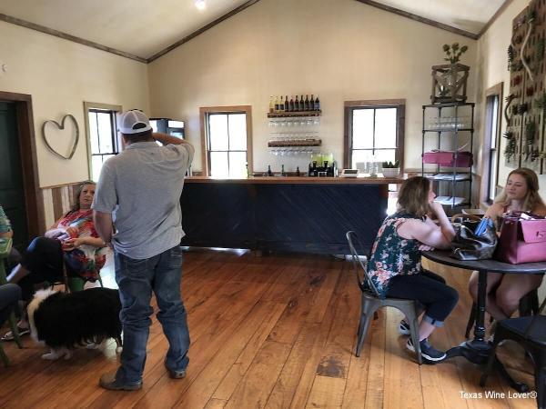 Axis Winery tasting bar