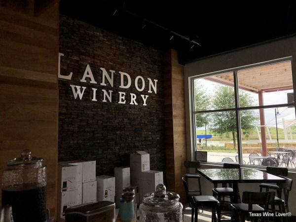 Landon Winery sign inside