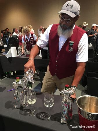 North Texas Wine Country Blind Tasting Competition pouring