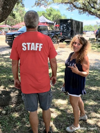 My friends, Doug and Tracey Chalman, served as volunteers for the Festival