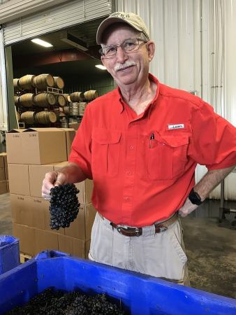 Dr. Bob Young, Bending Branch Winery, with Tannat