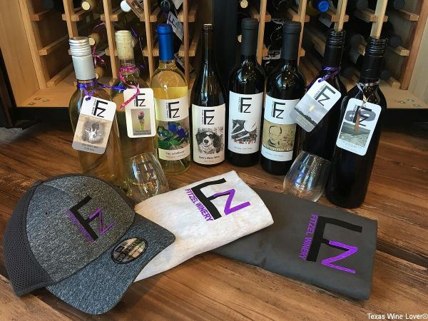 Fitzel Winery wines and swag