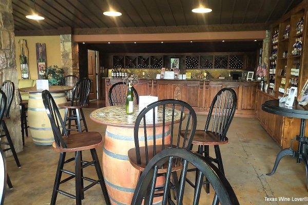 Christoval Vineyards inside tasting room
