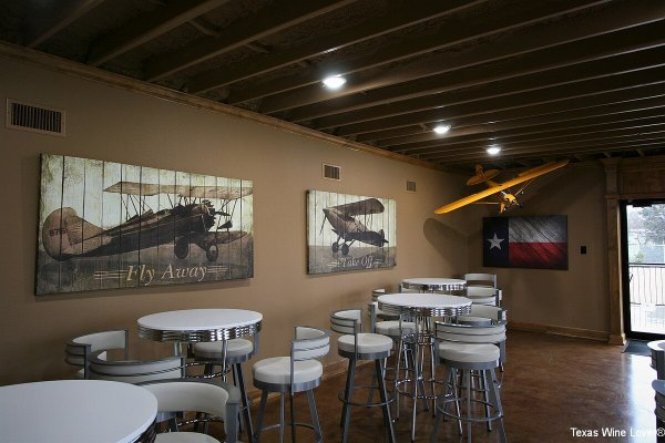 Hidden Hangar tasting room