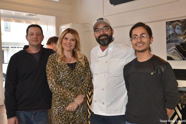Chace and Elizabeth HIll, Chef Aniesto Garcia, Ben Hernandez