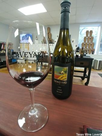 Graveyard Vineyards wine and glass