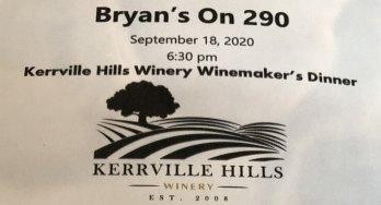 Bryans on 290 winemaker dinner