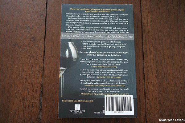 Professional Drinking back cover