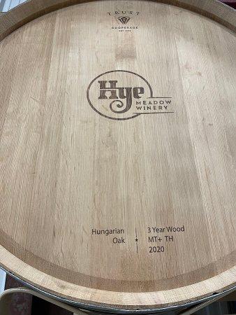 Hye Meadow Winery barrel end