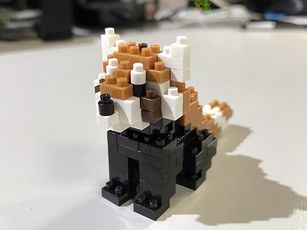 レッサーパンダのナノブロックを組み立ててみました。 , 京都